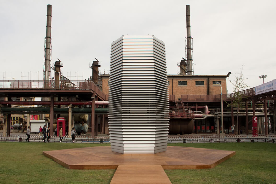 Smog Free Project in Beijing with air purifiers from ENS Technology